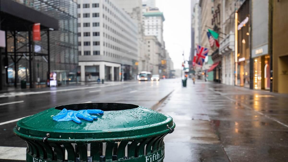 empty big city following social distance orders